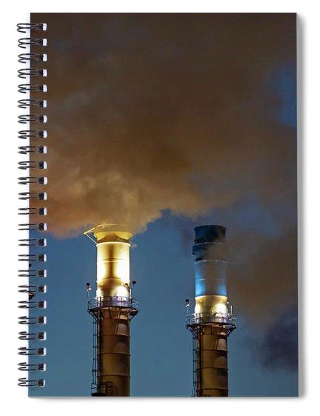 Patriotic Smokestacks Spiral Notebook