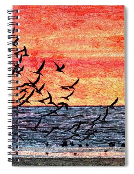 Patriotic Sunrise Spiral Notebook