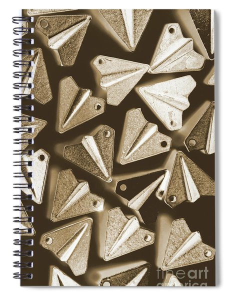 Patterned In Aviation Spiral Notebook