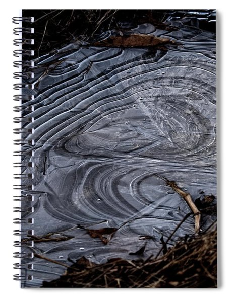 Patterns In Ice Spiral Notebook