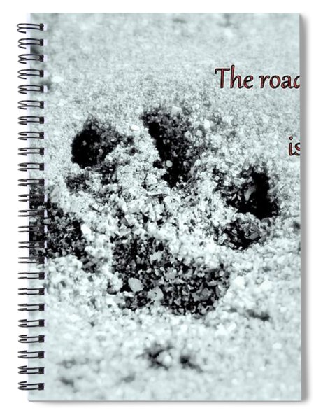 Spiral Notebook featuring the photograph Paw Prints by Patti Whitten