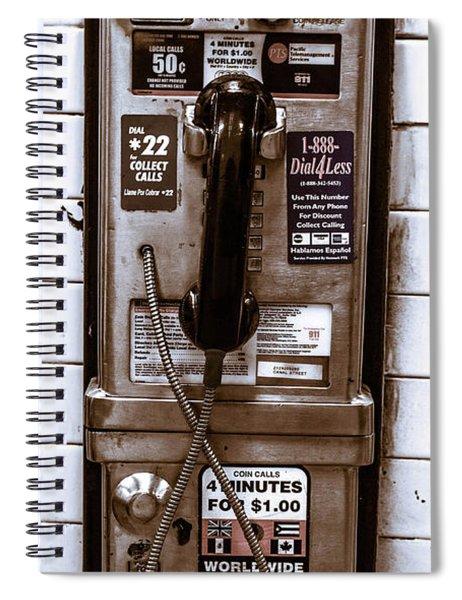 Payphone Spiral Notebook