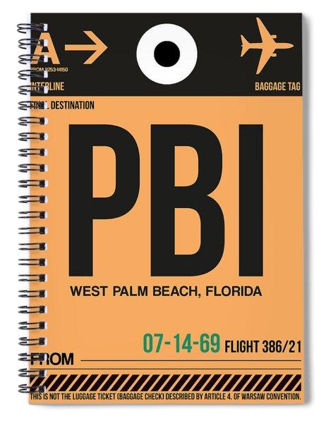Pbi West Palm Beach Luggage Tag I Spiral Notebook