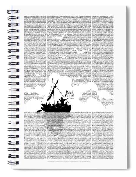Peace Be Still Spiral Notebook