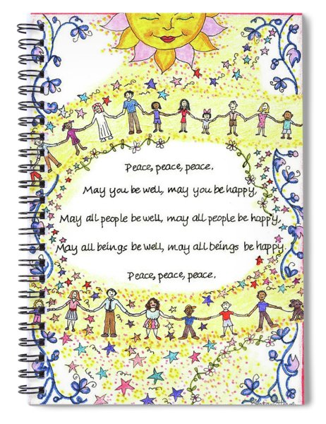 Peace, Peace, Peace Spiral Notebook