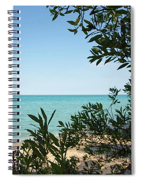 Spiral Notebook featuring the photograph Peaceful Window by Emily Johnson