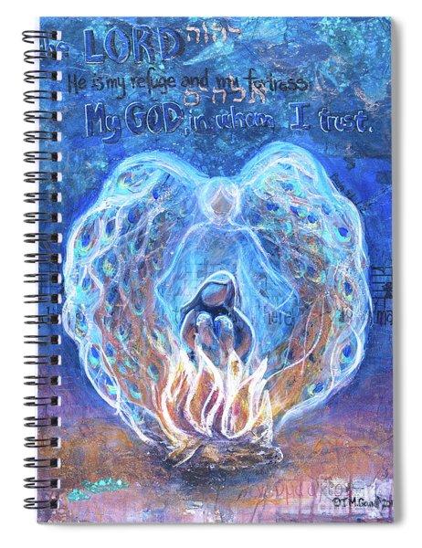 Peacock Angel    Cooler Version Spiral Notebook