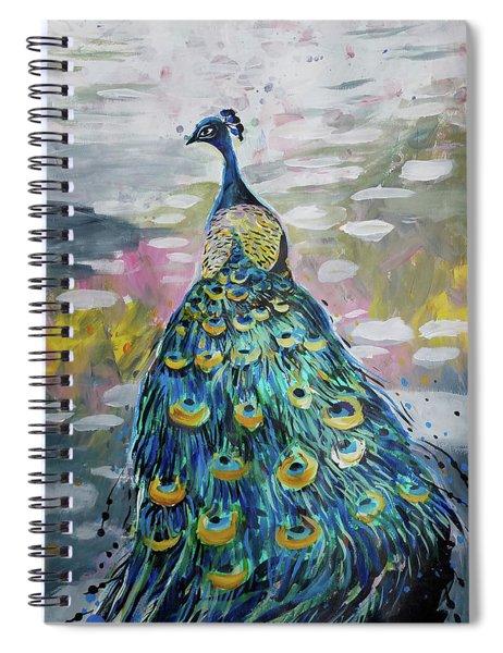 Peacock In Dappled Light Spiral Notebook