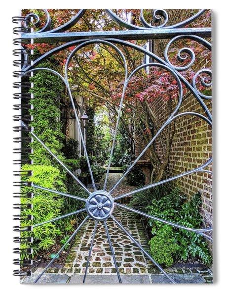 Peek-a-boo Garden Spiral Notebook