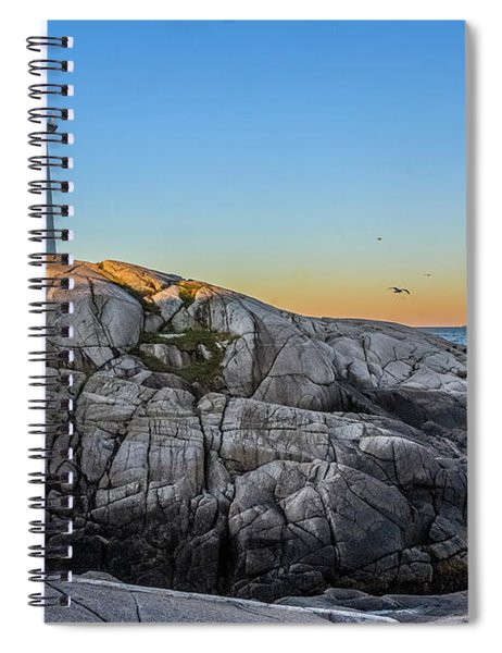 Peggys Cove Lighthouse Spiral Notebook