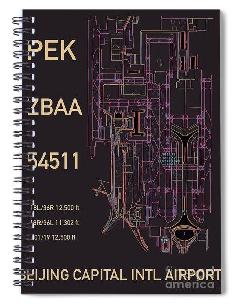 Pek Beijing Capital Airport Spiral Notebook