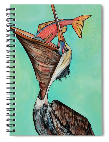 Pelican On The Edge Spiral Notebook