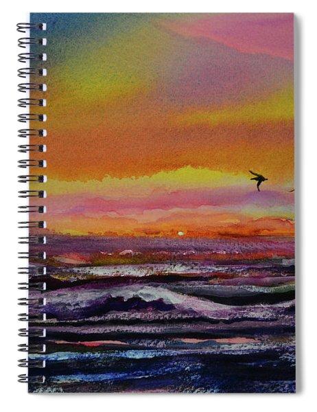 Pelican Sunrise  Spiral Notebook