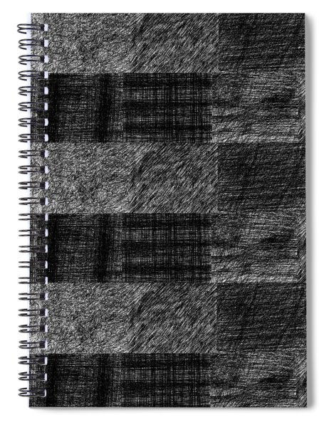 Pencil Scribble Texture 1 Spiral Notebook
