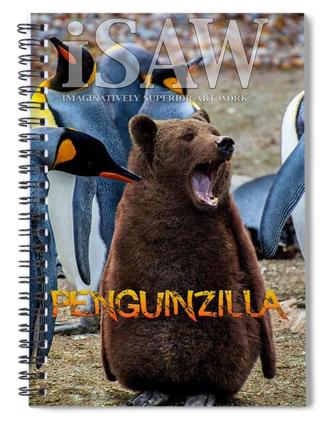 Penguinzilla Spiral Notebook by ISAW Company
