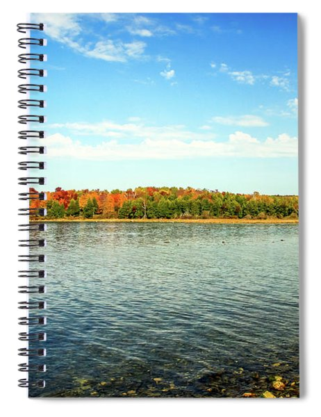 Peninsula Shore In Fall Spiral Notebook