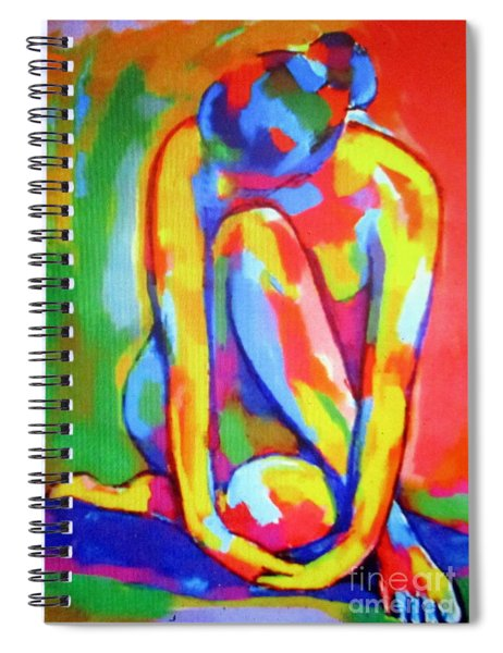 Pensive Figure Study Spiral Notebook