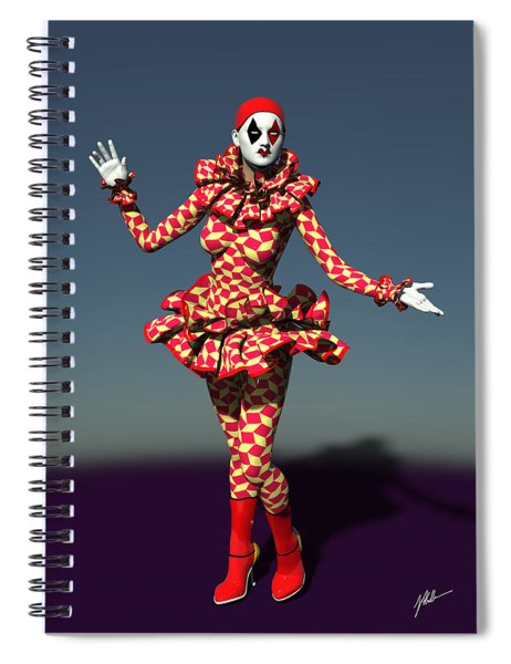 Perched Of Pierrette Spiral Notebook