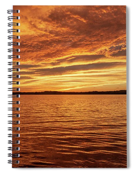Percy Priest Lake Sunset Spiral Notebook