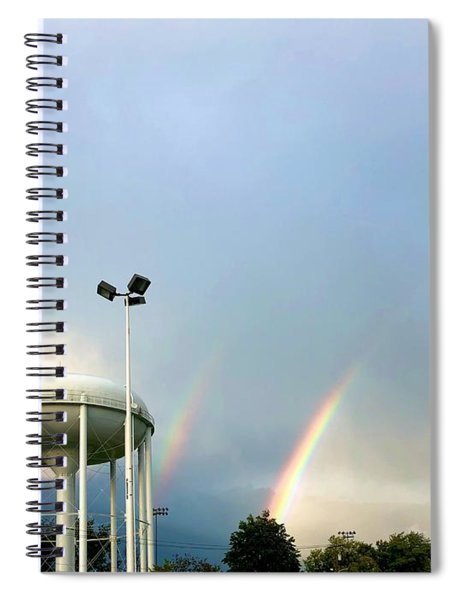 Perry Hall Double Rainbow Spiral Notebook