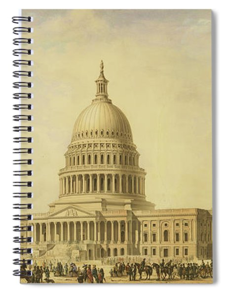 Perspective Rendering Of United States Capitol Spiral Notebook