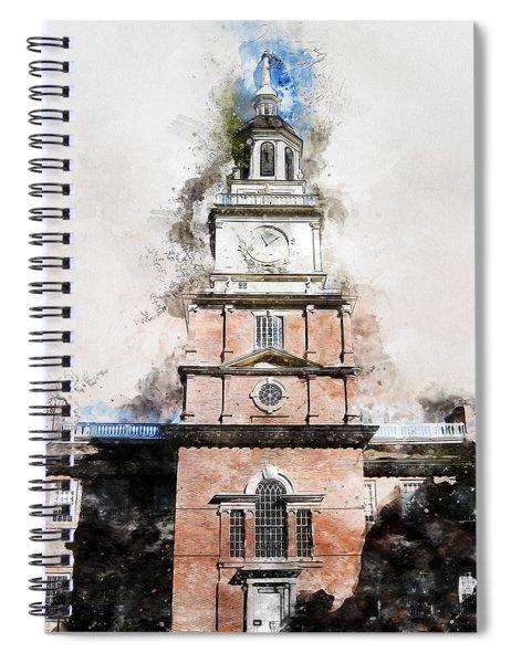 Philadelphia Independence Hall - 01 Spiral Notebook