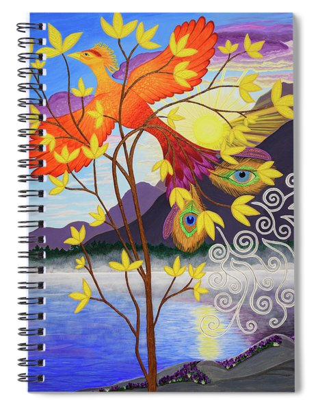 Phoenix Rising To New Life Spiral Notebook