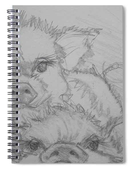 Photo Bomber Sketch Spiral Notebook by Jani Freimann