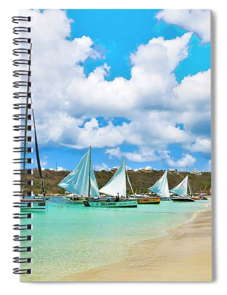 Picture Perfect Day For Sailing In Anguilla Spiral Notebook