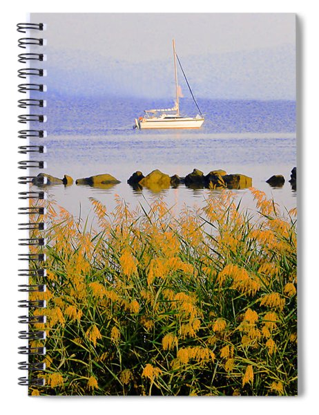 Piermont Reeds And Boat Spiral Notebook