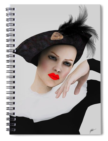 Pierrette De Vogue Spiral Notebook