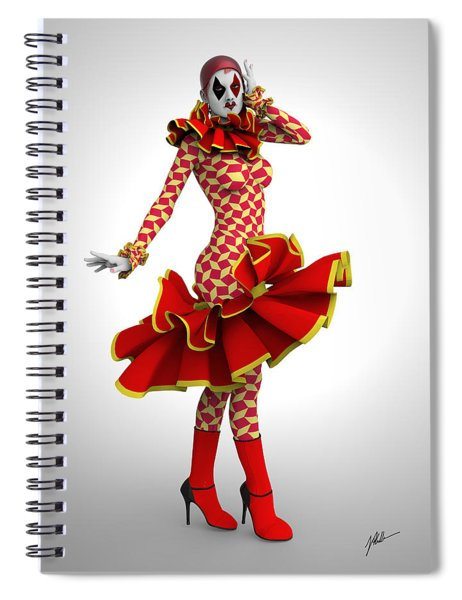 Pierrette Of Madrid Spiral Notebook