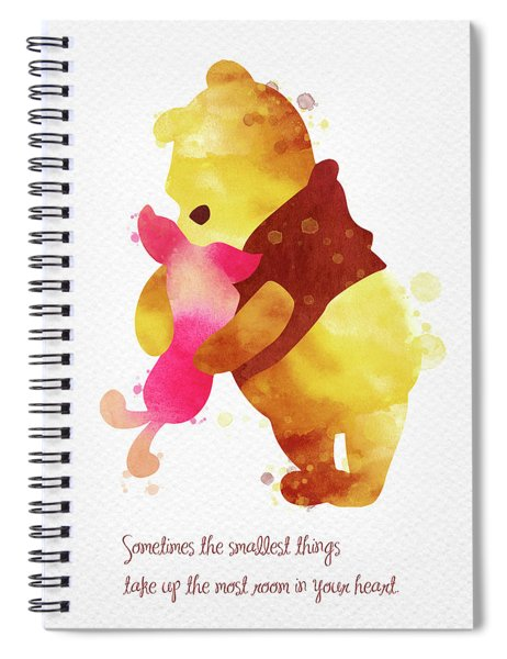 Piglet And Pooh Watercolor 2 Spiral Notebook