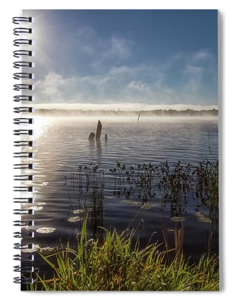 Spiral Notebook featuring the photograph Pike Bay by Heather Kenward