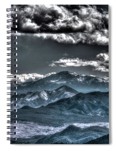 Pikes Peak And Clouds Spiral Notebook