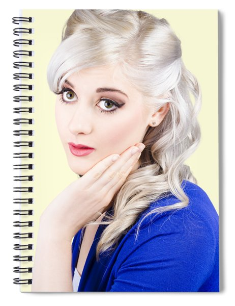 Pin Up Girl With Soft Clean Skin Spiral Notebook