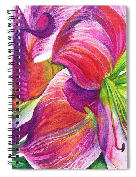 Pink Amarylis Spiral Notebook