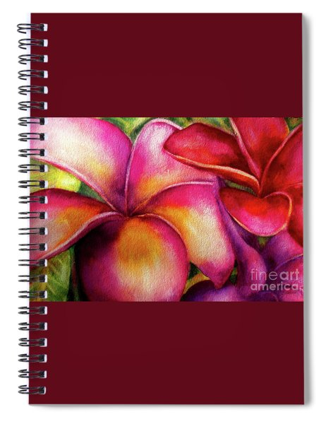 Pink And Red Plumerias Spiral Notebook