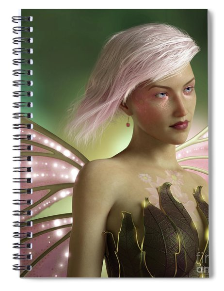 Pink Fairy Spiral Notebook