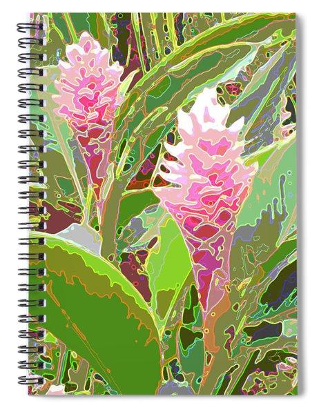 Pink Ginger Spiral Notebook