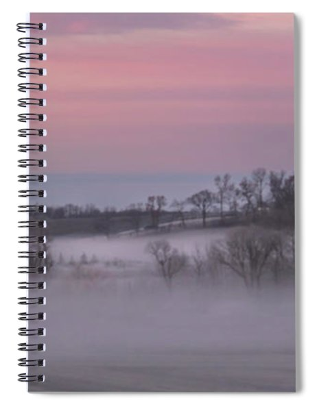 Pink Misty Morning #1 - Winter Fog Spiral Notebook by Patti Deters