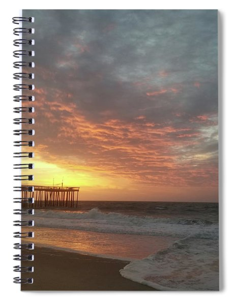 Pink Rippling Clouds At Sunrise Spiral Notebook