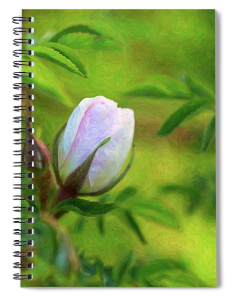 Pink Rose - Lady In Waiting - By Omaste Witkowski Spiral Notebook