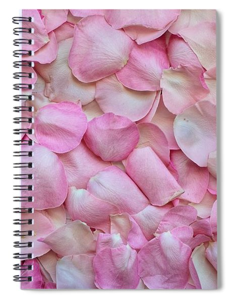 Pink Rose Petals Spiral Notebook