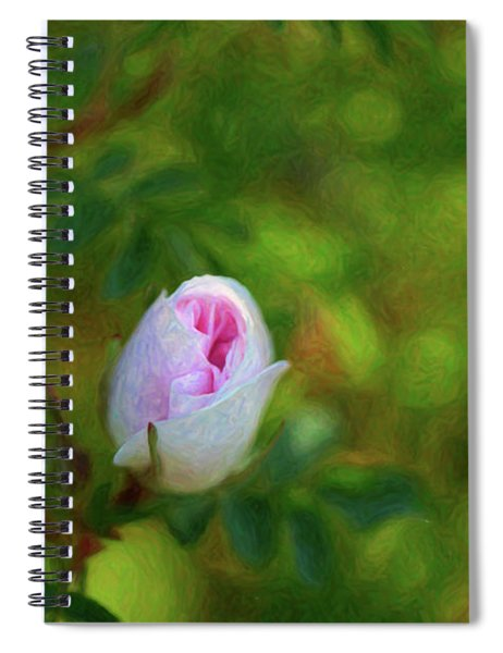 Pink Rose - True Love - By Omaste Witkowski Spiral Notebook
