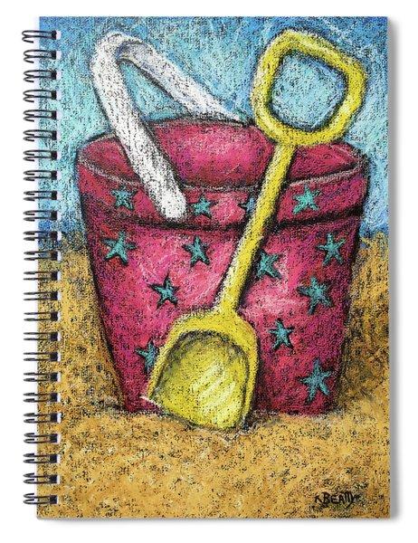 Pink Sand Pail Spiral Notebook