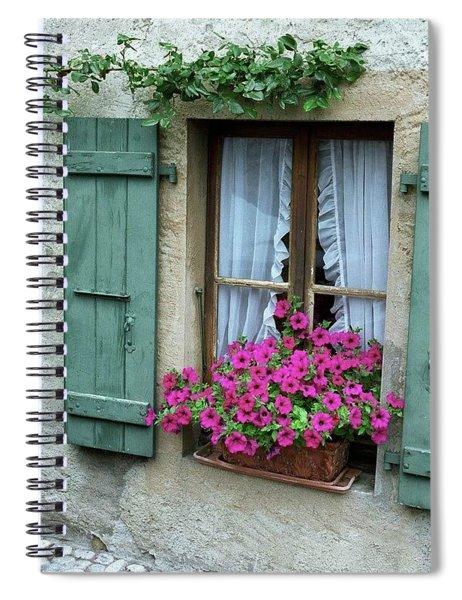 Pink Window Box Spiral Notebook