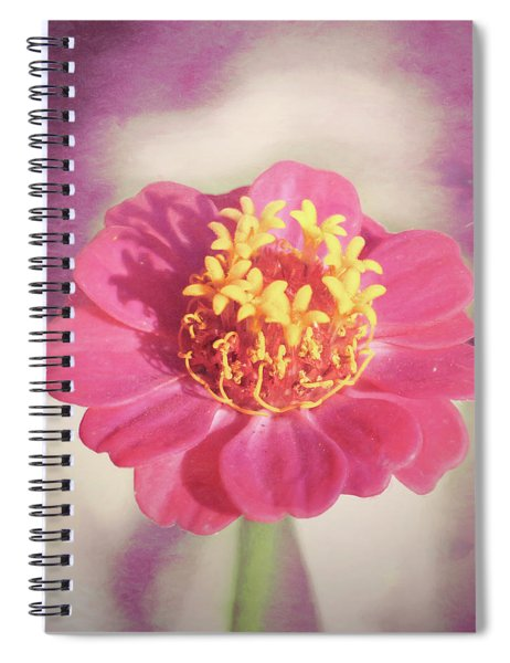 Pink Zinnia Isolated Spiral Notebook