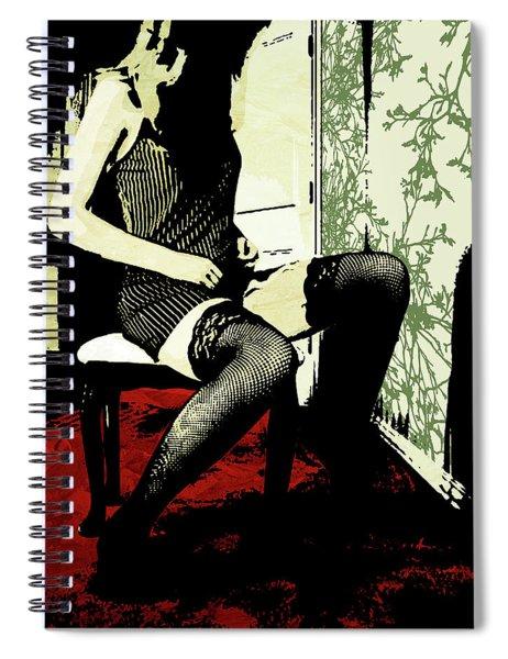 Pinstripes Spiral Notebook