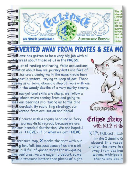 Pirates And Seamonsters Spiral Notebook
